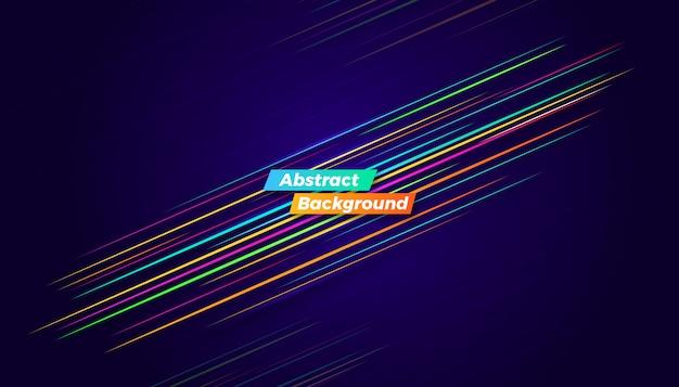 Sfondo dinamico movimento colorato Vettore Premium