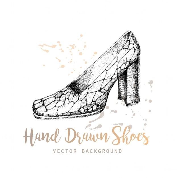 Sfondo disegnati a mano scarpe vettore Vettore gratuito