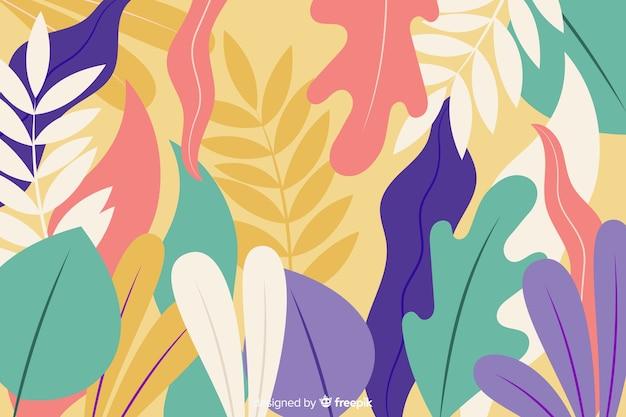 Sfondo disegnato a mano con piante esotiche Vettore gratuito