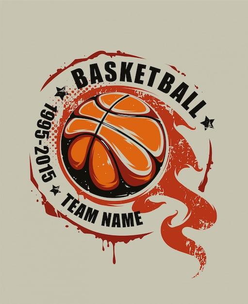Sfondo disegnato a mano di basket Vettore gratuito