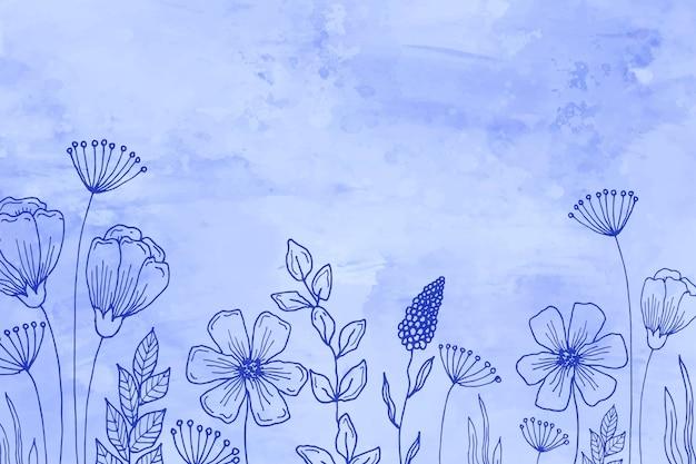 Sfondo disegnato a mano pastello Vettore gratuito