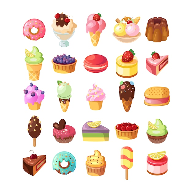 Sfondo divertente gelato. Vettore gratuito