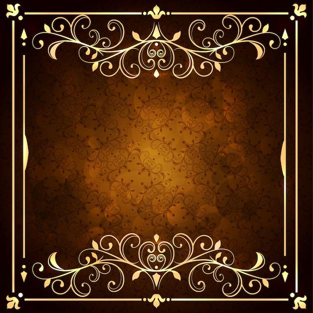 Sfondo dorato ornamentale Vettore gratuito