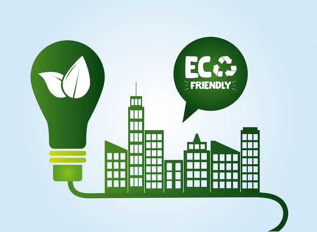 Sfondo ecofriendly Vettore gratuito