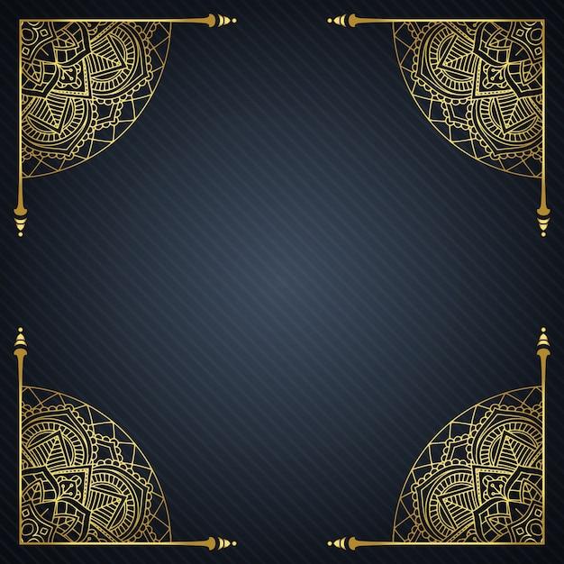 Sfondo elegante con cornice decorativa Vettore gratuito