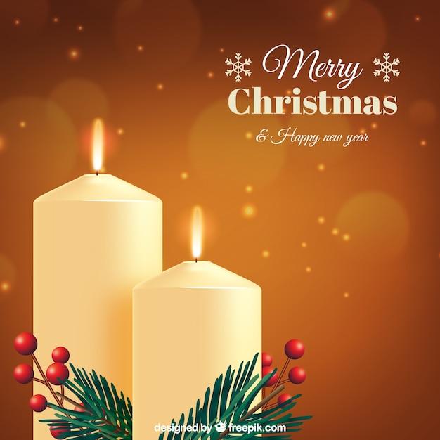 Sfondi Natalizi Eleganti.Sfondo Elegante Dorato Di Candele Di Natale Scaricare Vettori Gratis