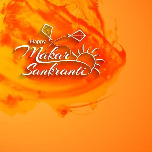 Sfondo elegante Makar Sankranti Vettore gratuito