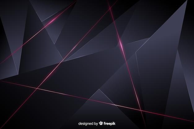 Sfondo elegante poligonale scuro Vettore gratuito