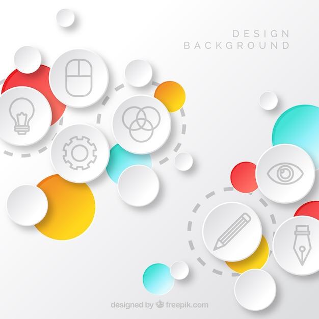 Sfondo elementi di design Vettore gratuito