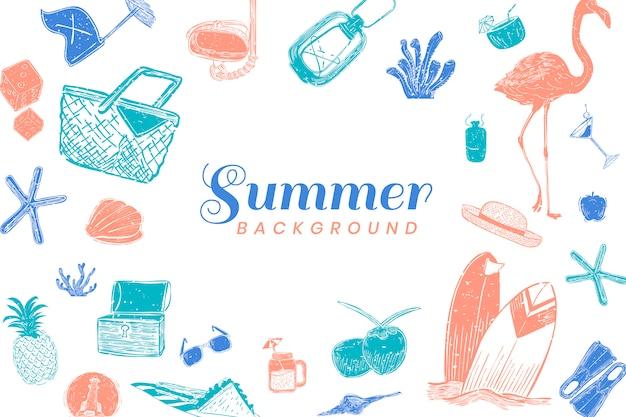 Sfondo estate tropicale Vettore gratuito