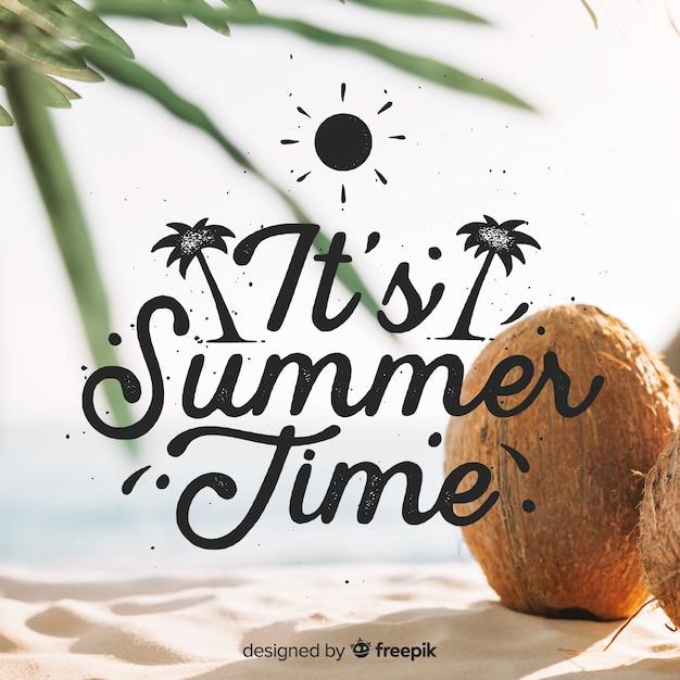 Sfondo estate Vettore gratuito