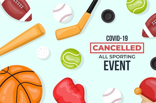 Sfondo eventi sportivi annullato Vettore gratuito