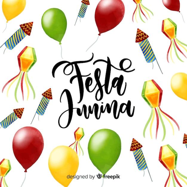 Sfondo festa junina Vettore gratuito