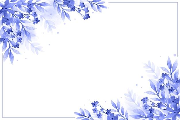 Sfondo floreale ad acquerello Vettore gratuito