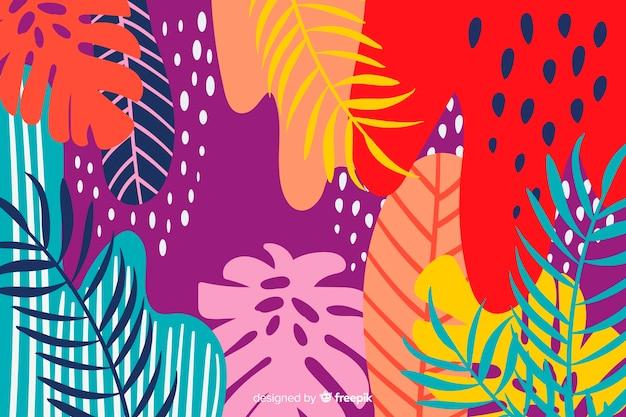 Sfondo floreale astratto colorato Vettore gratuito