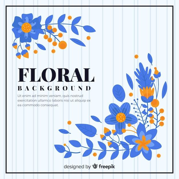 Sfondo floreale colorato con design piatto Vettore gratuito