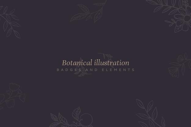 Sfondo floreale con illustrazione botanica Vettore gratuito