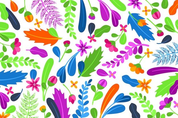 Sfondo floreale esotico colorato Vettore gratuito