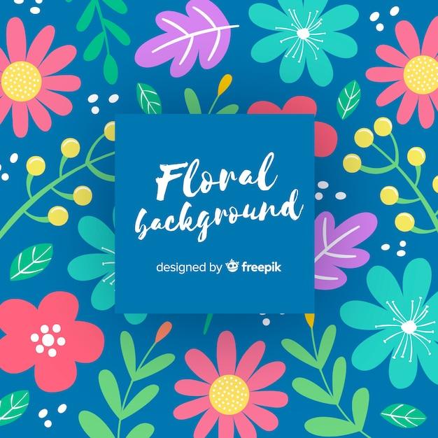 Sfondo floreale Vettore gratuito