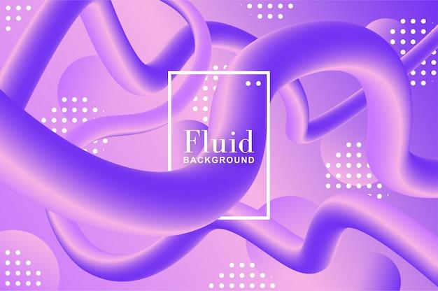 Sfondo fluido con forme viola e viola Vettore gratuito