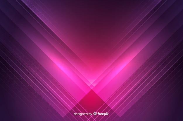 Sfondo futuristico colorato luci al neon Vettore gratuito