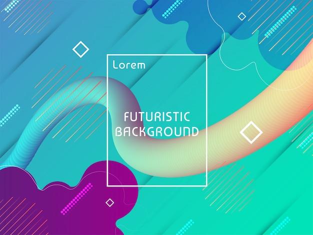 Sfondo futuristico techno moderno Vettore gratuito