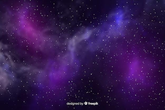 Sfondo galassia realistico Vettore gratuito