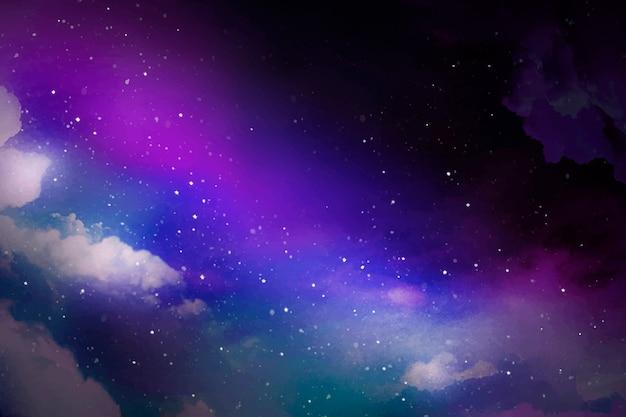 Sfondo galassia spaziale Vettore gratuito