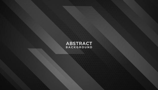 Sfondo geometrico astratto nero Vettore Premium