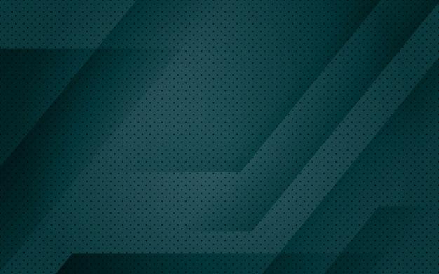 Sfondo geometrico astratto verde scuro Vettore Premium