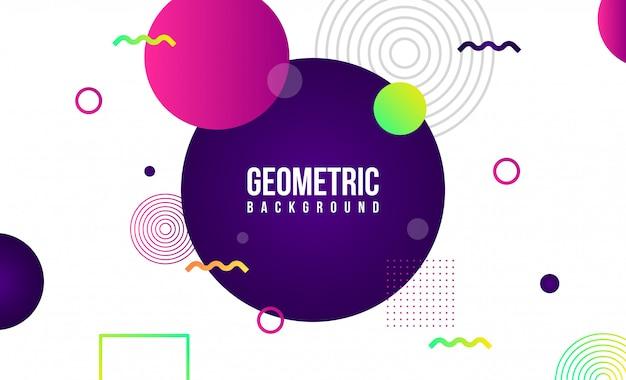 Sfondo geometrico astratto Vettore Premium