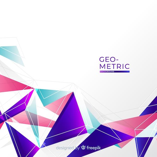 Sfondo geometrico colorato Vettore gratuito