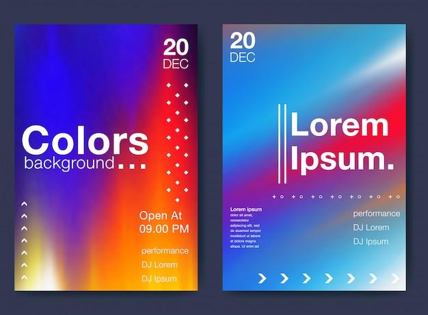 Sfondo geometrico colorato Vettore Premium