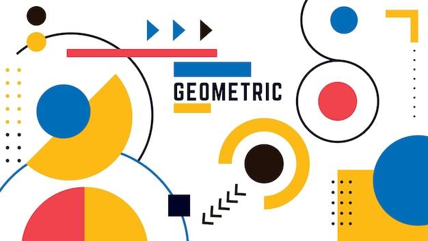 Sfondo geometrico con cerchi Vettore gratuito