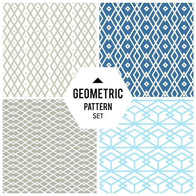 Sfondo geometrico con rombi e nodi. motivo geometrico astratto Vettore gratuito
