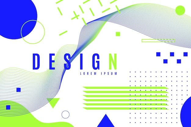 Sfondo geometrico di progettazione grafica in tonalità di colore freddo Vettore gratuito