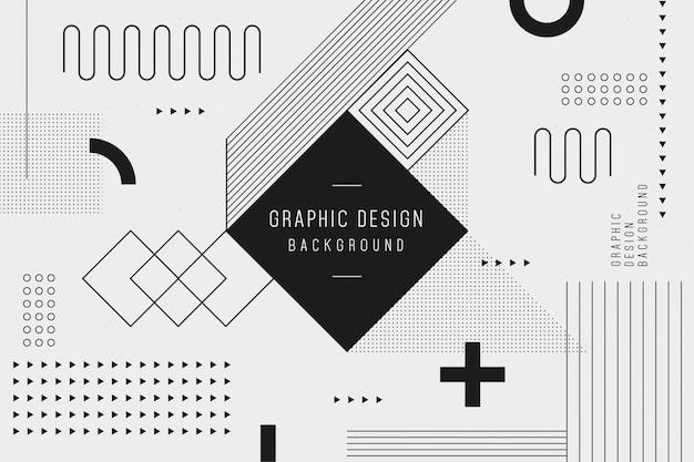 Sfondo geometrico di progettazione grafica Vettore gratuito