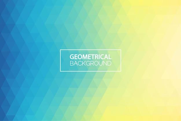 Sfondo geometrico gradiente giallo verde moderno Vettore Premium