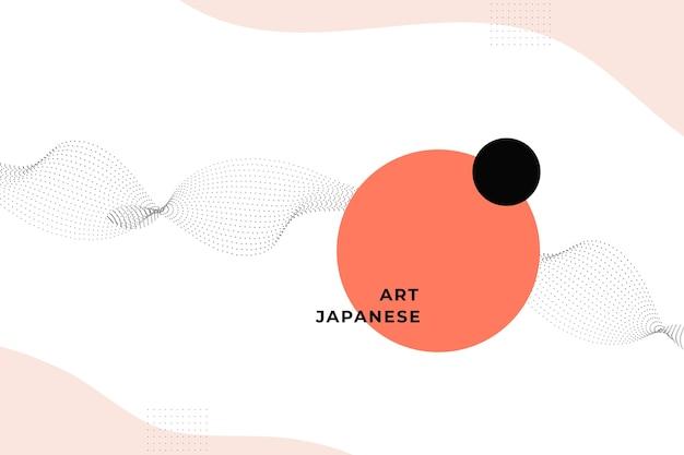 Sfondo geometrico nel design giapponese Vettore gratuito