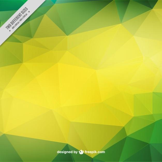 Sfondo Geometrico Verde E Giallo Scaricare Vettori Premium