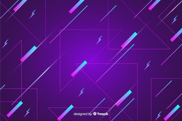 Sfondo geometrico viola anni '80 Vettore gratuito