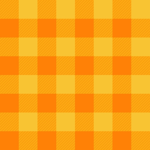 Sfondo giallo arancione scacchiera Vettore Premium
