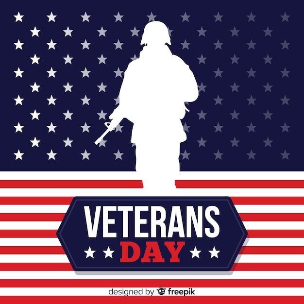 Sfondo giorno dei veterani Vettore gratuito