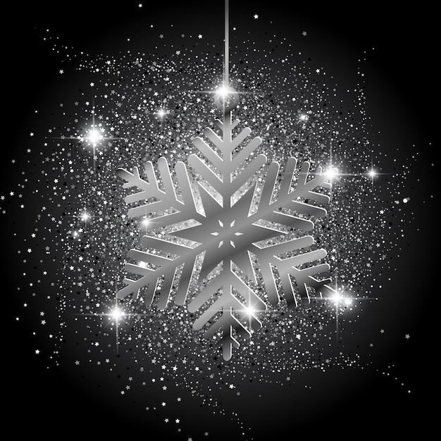 Immagini Glitterate Di Natale.Sfondo Glitter Di Natale Fiocco Di Neve Scaricare Vettori