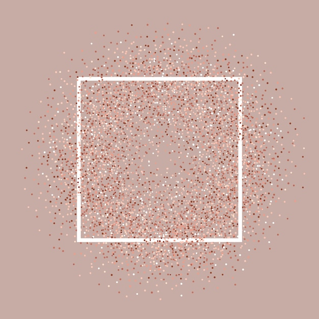 Sfondo Glitter Oro Rosa Con Cornice Bianca Scaricare Vettori Gratis