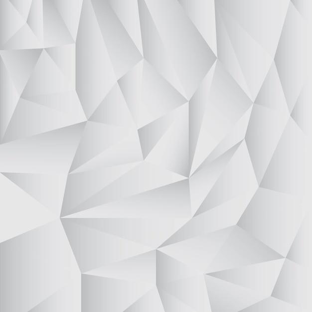 Sfondo grigio astratto poligono Vettore Premium