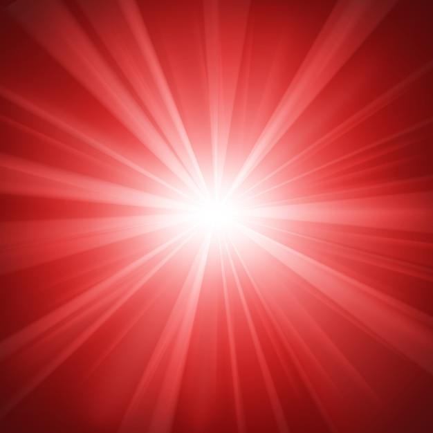 Sfondo illuminato di luce rossa Vettore Premium