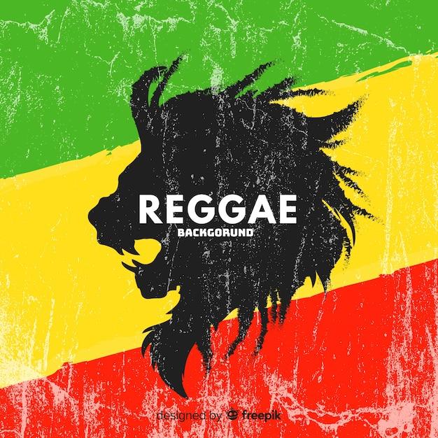 Sfondo in stile reggae con un leone Vettore gratuito