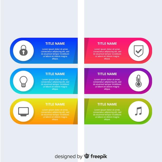 Sfondo infografica piatta Vettore gratuito