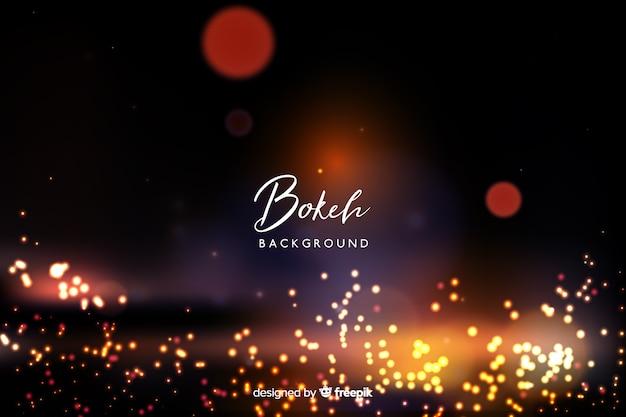 Sfondo luminoso bokeh Vettore gratuito